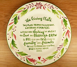 Davie The Giving Plate
