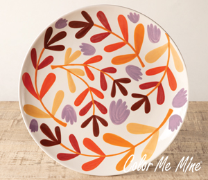Davie Fall Floral Charger