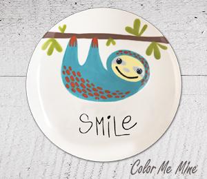 Davie Sloth Smile Plate