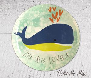 Davie Whale Love Plate