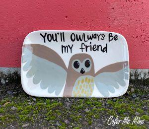 Davie Owl Plate
