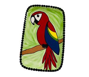 Davie Scarlet Macaw Plate